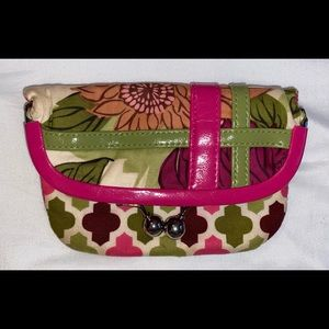 Vera Bradley kiss closure foldover wallet